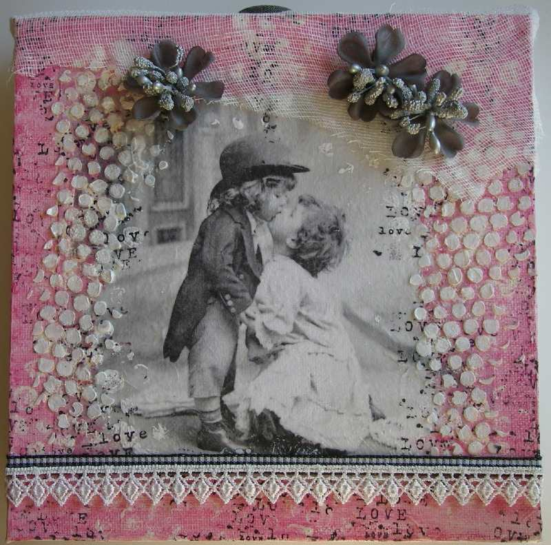 vintage love canvas scrappykatzcraftbarn.co.uk