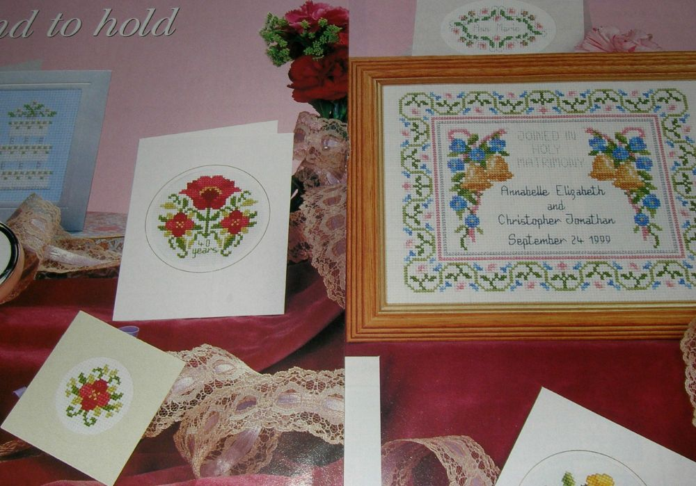 Eight Wedding Cards, tags, Sampler ~ Cross Stitch Charts