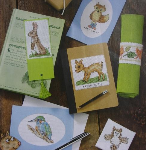42 Woodland Animals, Birds & Foliage ~ Cross Stitch Charts