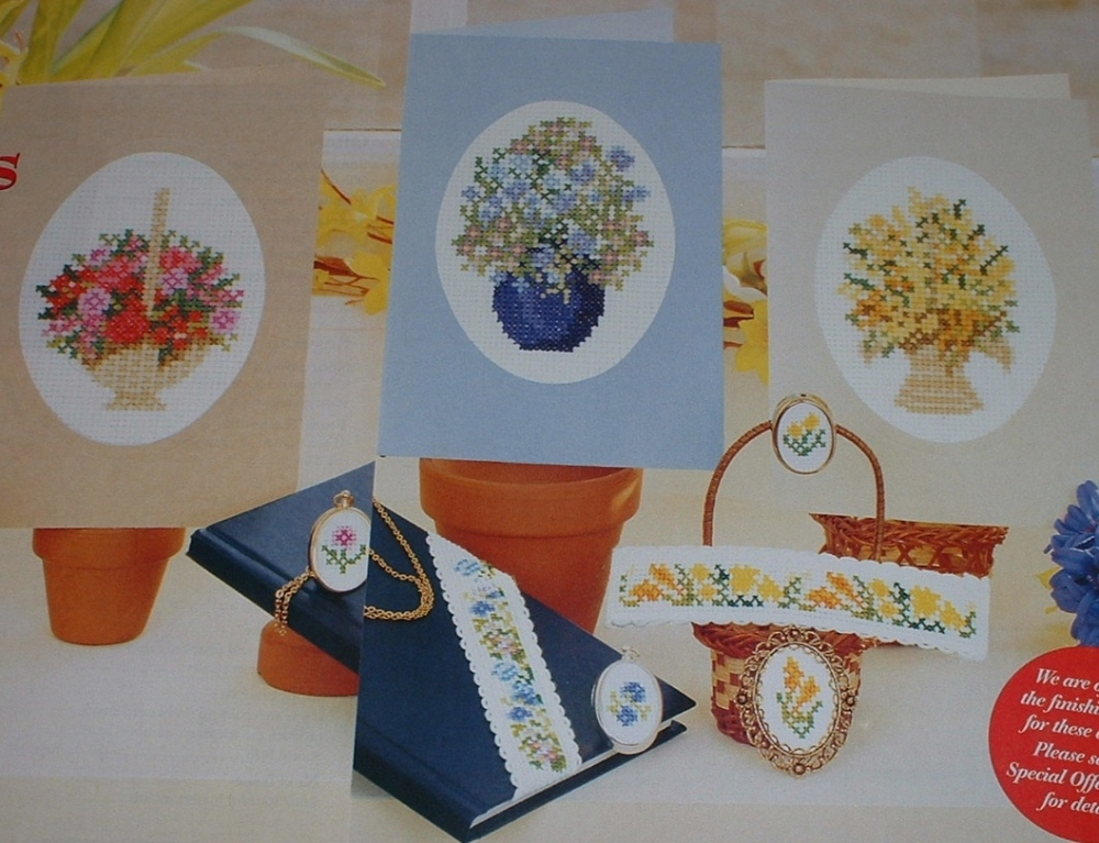 Floral Cards & Bandings ~ Cross Stitch Charts