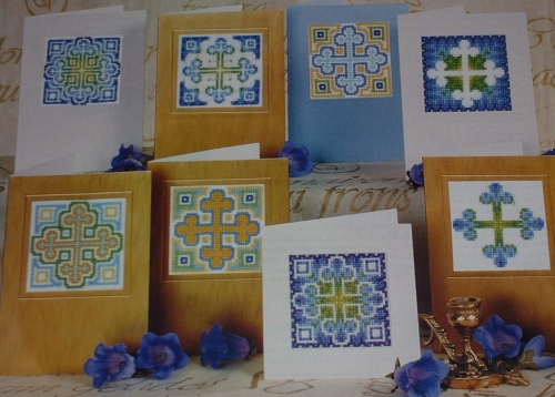 12 Easter Crosses Cards ~ Cross Stitch Charts