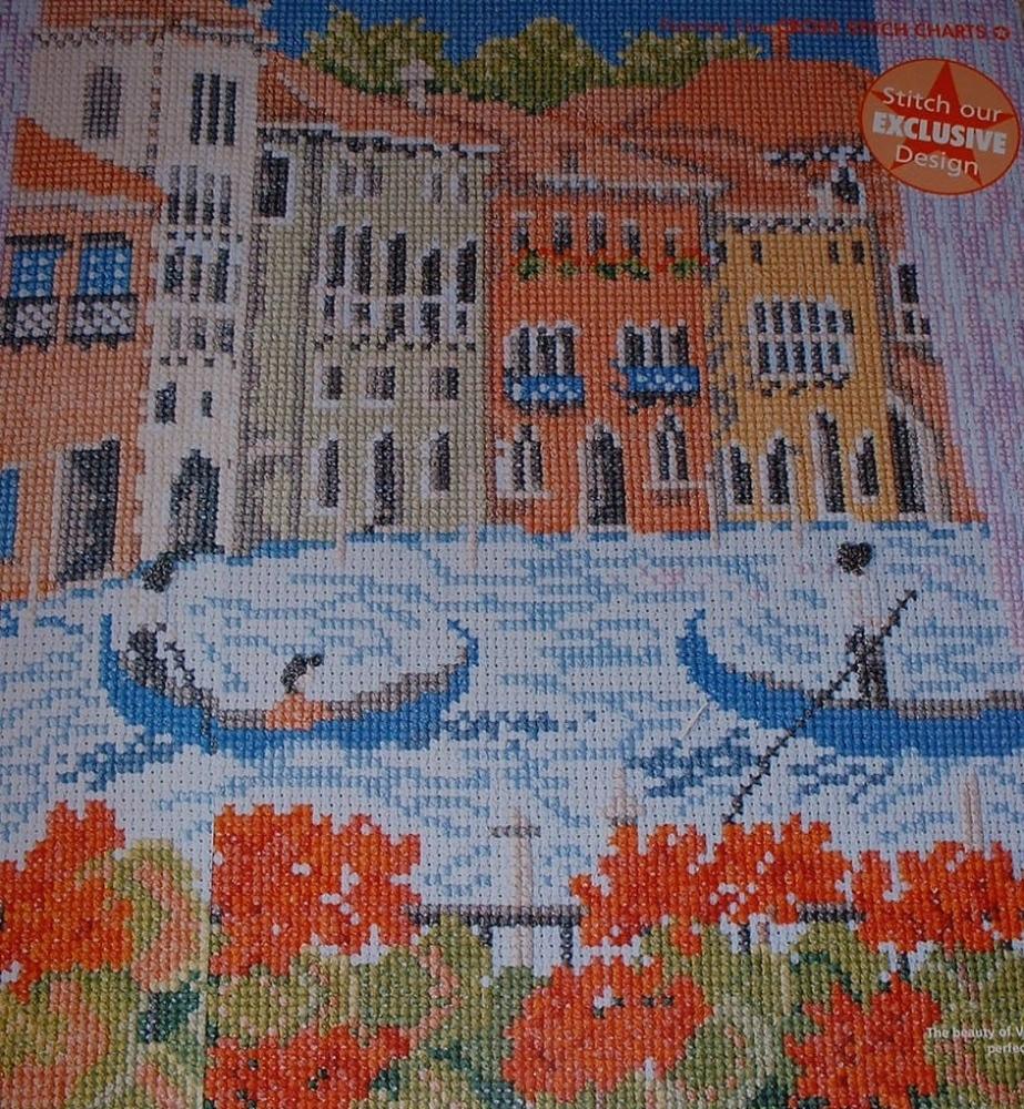 A View of Venice ~ Cross Stitch Chart
