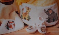 Jungle Animal Baby Motifs ~ Four Cross Stitch Charts