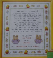 Little Angels Baby Sampler ~ Cross Stitch Chart