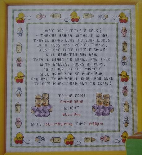 Little Angels Baby Sampler ~ Cross Stitch Chart