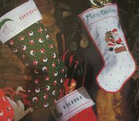 Personalised Christmas Stockings ~ Three Cross Stitch Charts