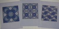 Patchwork Style Cards ~ Six Cross Stitch Charts
