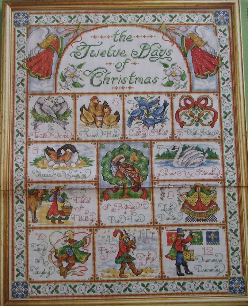 Twelve Days of Christmas Sampler ~ Cross Stitch Chart
