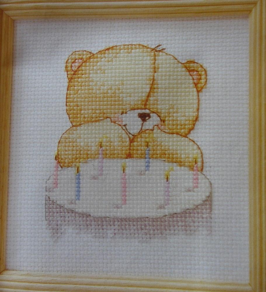 Forever Friends Bear: Birthday Bear ~ Cross Stitch Chart