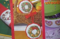 Festive Christmas Wreaths ~ Five Cross Stitch Charts