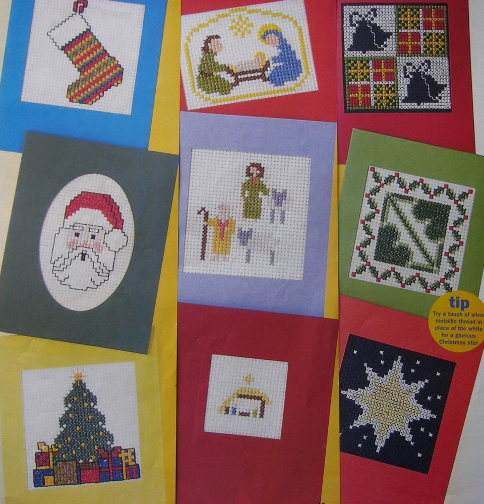 Quick & Easy Christmas Cards ~ Twelve Cross Stitch Charts