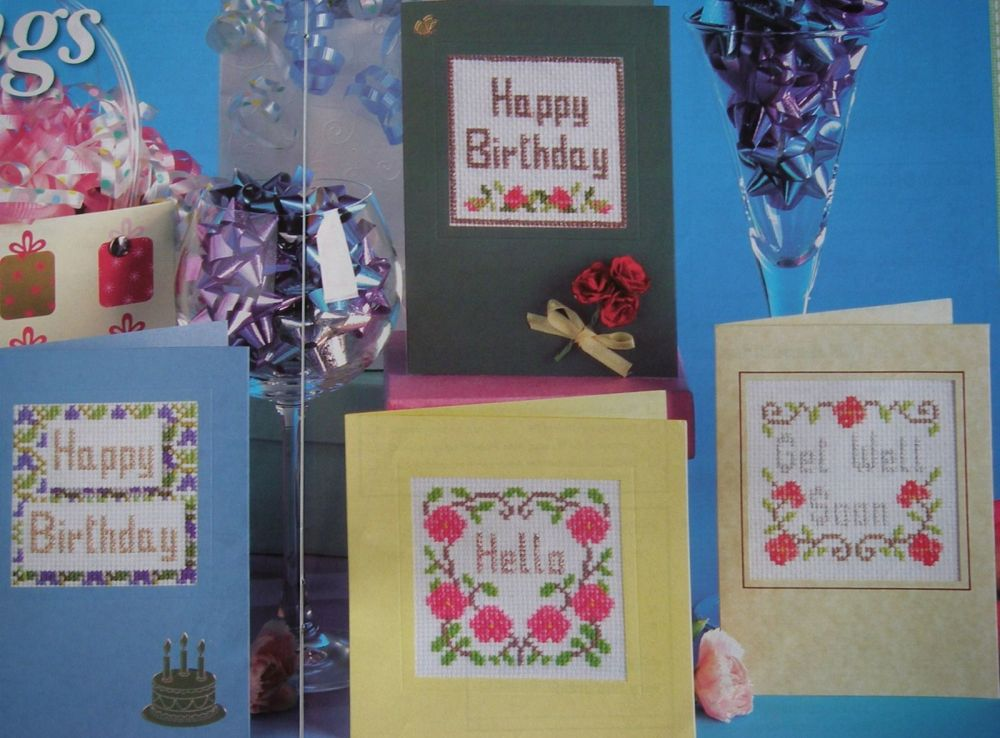 Greeting Cards ~ Four Cross Stitch Charts
