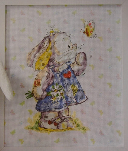 Somebunny To Love: Kissing Butterfly ~ Cross Stitch Chart
