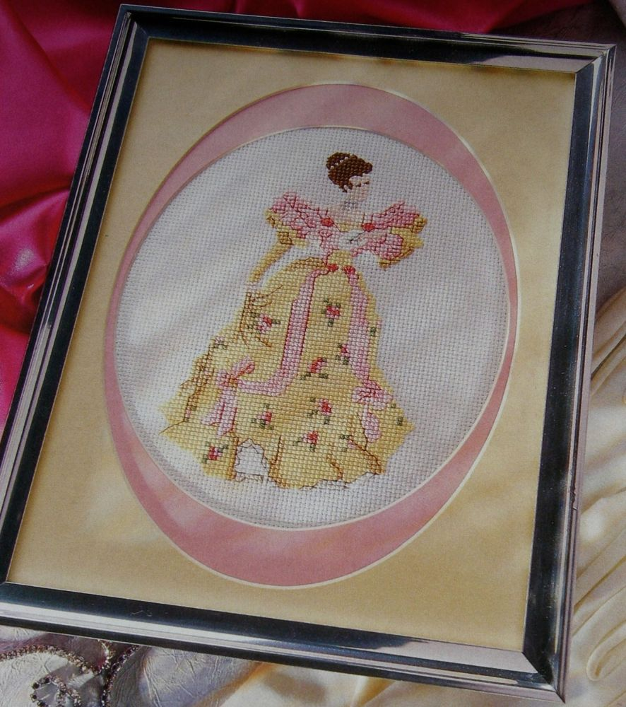 Victorian Lady in Evening Dress ~ Cross Stitch Chart