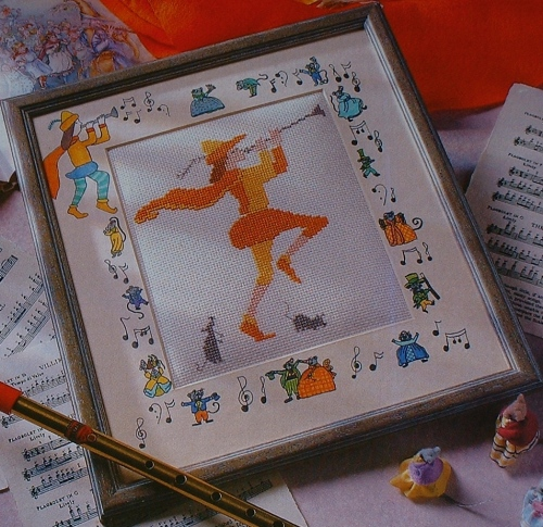Pied Piper of Hamelin ~ Cross Stitch Chart