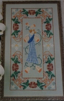 Art Nouveau Classical Lady ~ Cross Stitch Chart