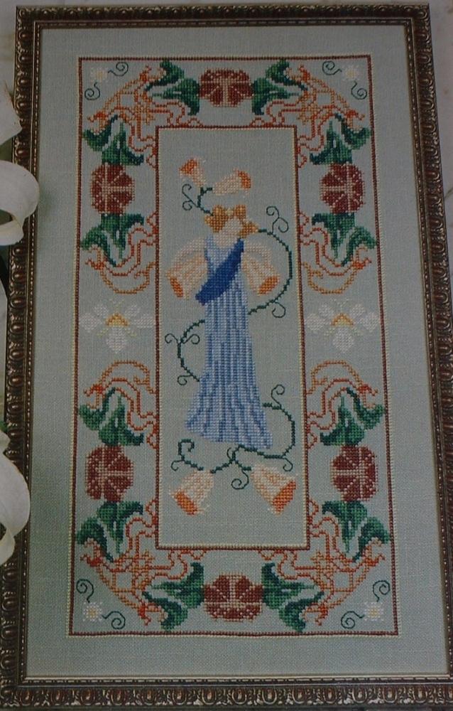 Art Nouveau Classical Lady ~ Cross Stitch Chart