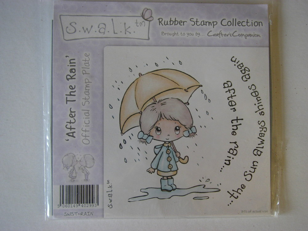 Crafter's Companion S.W.A.L.K. After the Rain ~ Rubber Stamp