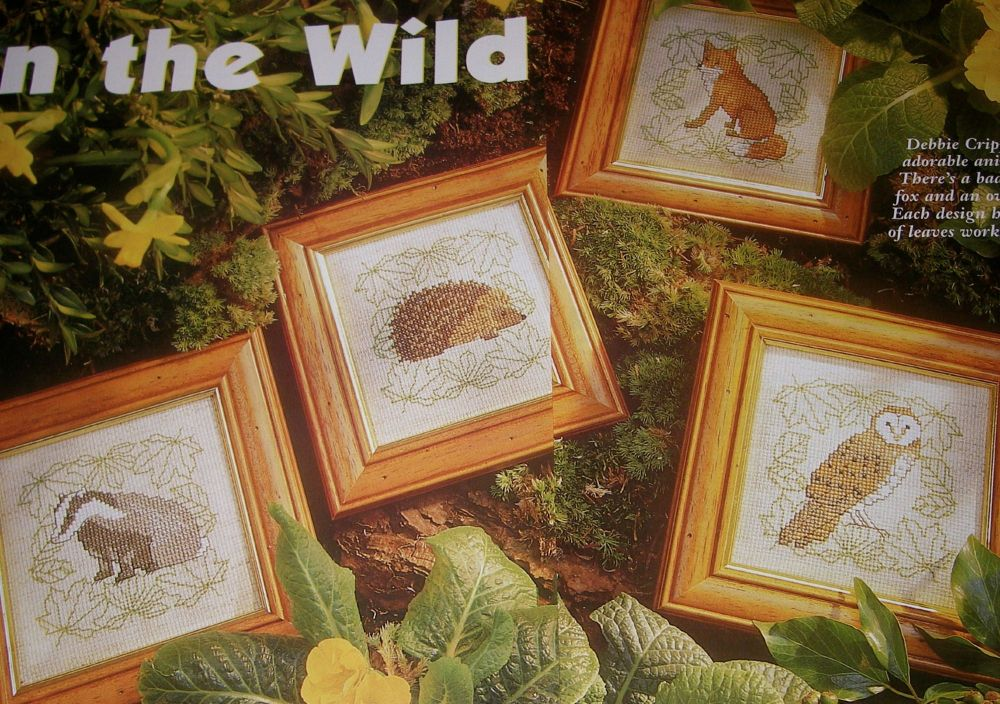 Wild Animals ~ Four Cross Stitch Charts