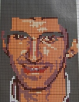 Damon Hill Formula One Racing Driver ~ Cross Stitch Chart