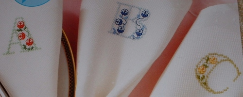 Zweigart Floral ABC Alphabet ~ 26 Cross Stitch Charts
