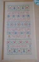 Pastel ABC Alphabet Band Sampler ~ Cross Stitch Chart