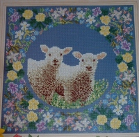 Spring Lamb Sampler ~ Cross Stitch Chart
