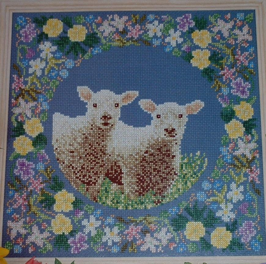 Spring Lamb Sampler ~ Cross Stitch Chart