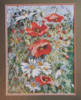 Richard Box: Poppies & Daisies ~ Hand & Machine Embroidery Pattern