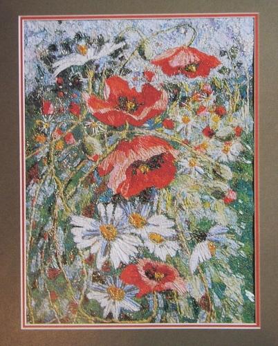 Richard Box: Poppies & Daisies ~ Hand & Machine Embroidery Pattern