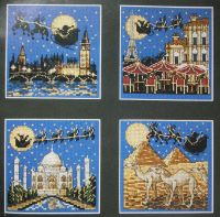 Santa's Sleigh Ride Around the World ~ Cross Stitch Chart