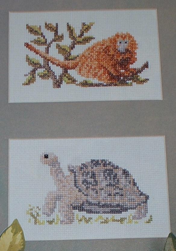 Giant Tortoise & Lion Tamarin ~ Two Cross Stitch Charts