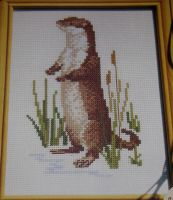 Otter on the Riverbank ~ Cross Stitch Chart