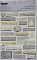 The Paper Company Studio ~ Wedding Phrases Dome Stickers