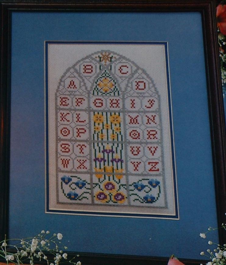 Stained Glass Window Alphabet ~ Cross Stitch Chart