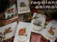 Six Woodland Animals ~ Cross Stitch Charts