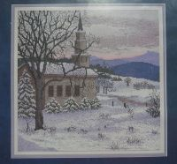 Cross My Heart Inc: Church In The Snow ~ Cross Stitch Kit
