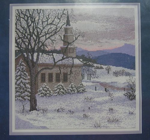 Cross My Heart Inc: Church In The Snow ~ Cross Stitch Kit