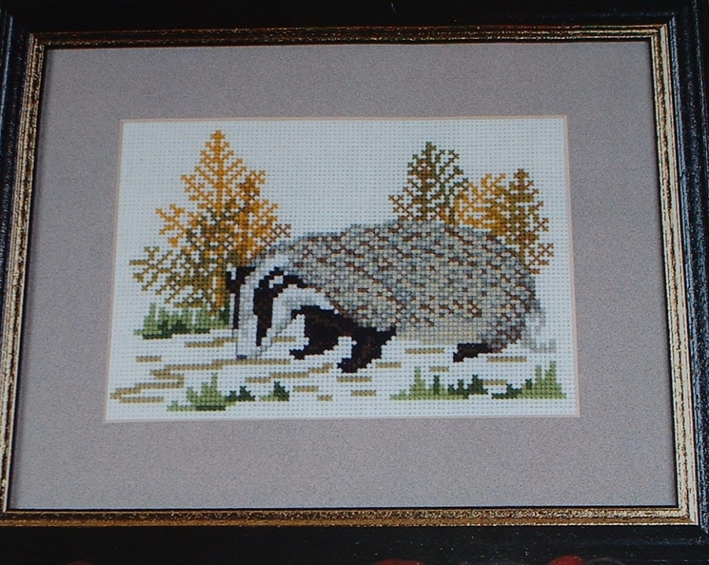 Badger ~ Cross Stitch Chart