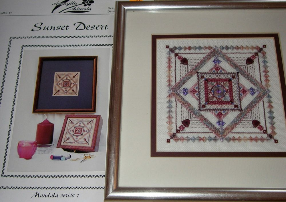 Amaryllis Artworks: Mandala Series 1 Sunset Desert ~ Embroidery Leaflet