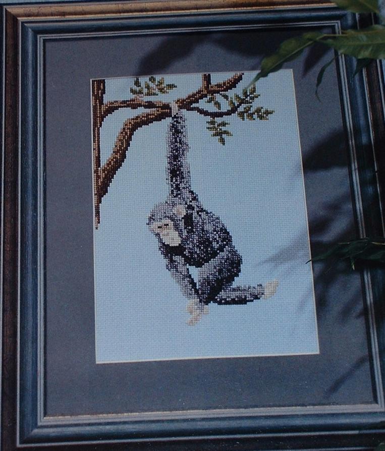 Chimpanzee ~ Cross Stitch Chart