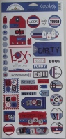 Doodlebug: Boys Will Be Boys ~ Cardstock Stickers