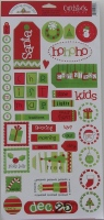 Doodlebug: Holly Jolly Christmas ~ Cardstock Stickers
