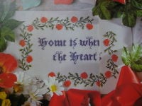 Home Is where the Heart Is Sampler ~ Cross Stitch Chart