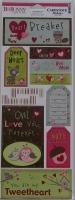 Bo Bunny: Love Bandit Heartbreaker ~ Cardstock Stickers