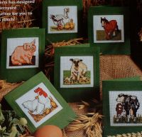 Six Animal Card Designs ~ Cross Stitch Charts