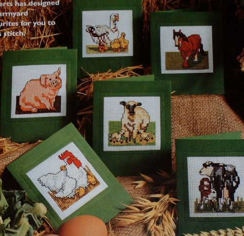 Six Animal Card Designs ~ Cross Stitch Charts