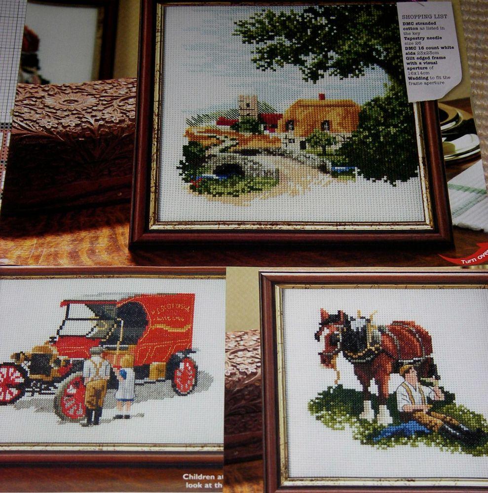 Three Old Fashioned British Rural Scenes ~ Cross Stitch Charts