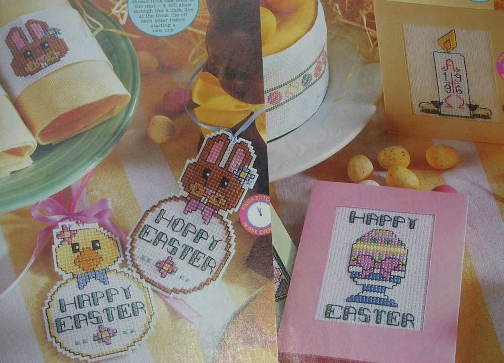 Happy Easter Eggs & Bunnies ~ Four Cross Stitch Charts