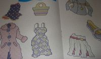 Fashion Clothes & Accessories Motifs ~ Thirteen (13) Cross Stitch Charts
